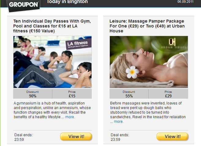 Groupon email